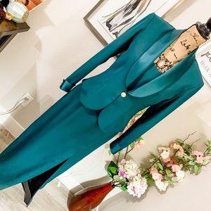 Emerald Dress/blazer set vintage with pearls D2